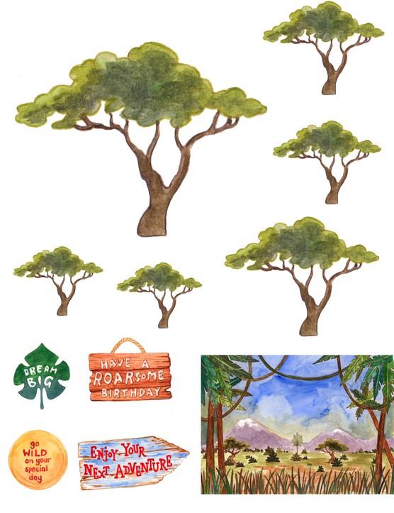 Free African safari printable papers 04