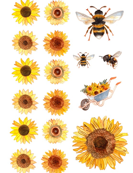 Free bee and sunflower printables-01
