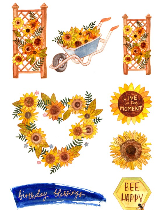 Free bee and sunflower printables-04