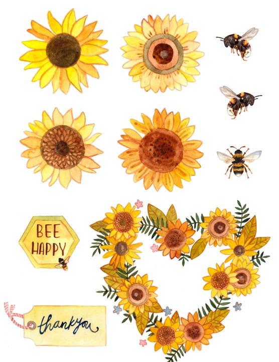 Free bee and sunflower printables-06
