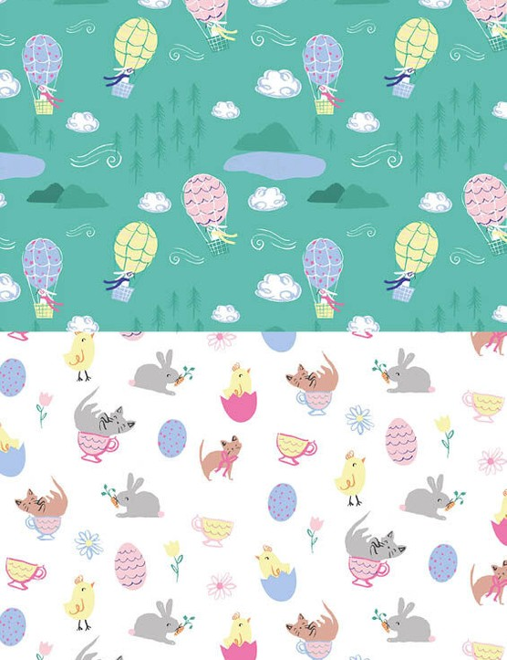 Free cute Easter patterned papers 1