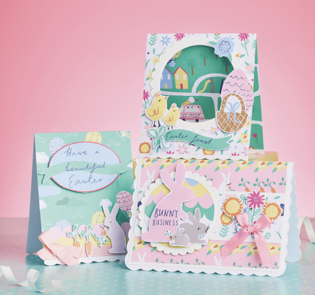 Free cute Easter papers for card making