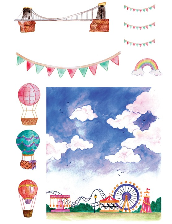 Free hot air balloon printables 1