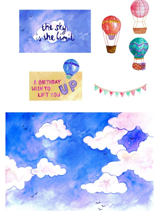 Free hot air balloon printables 6