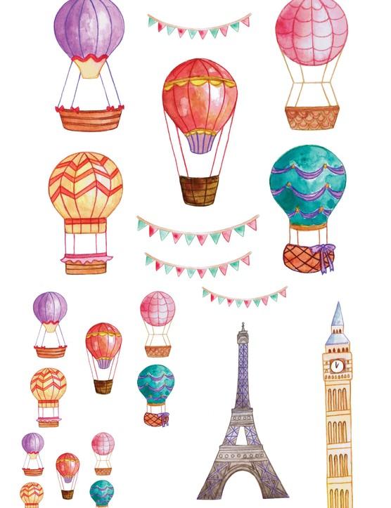 Free hot air balloon printables 7