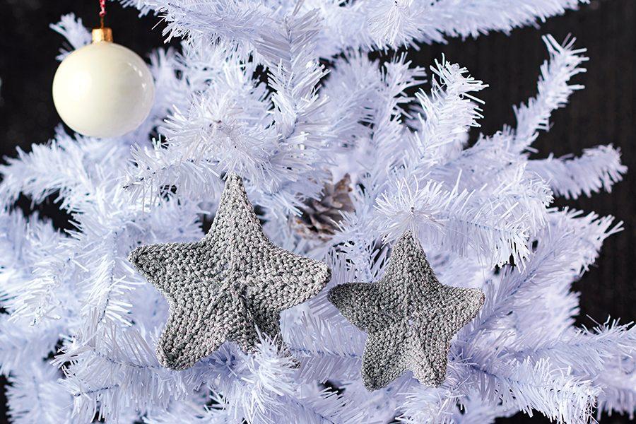 Free Christmas star knitting pattern