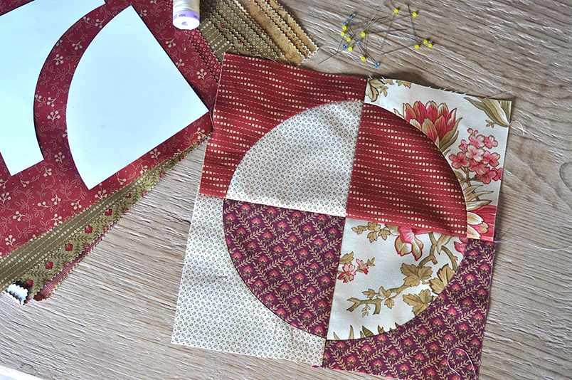 How to sew Drunkards Path quilt blocks