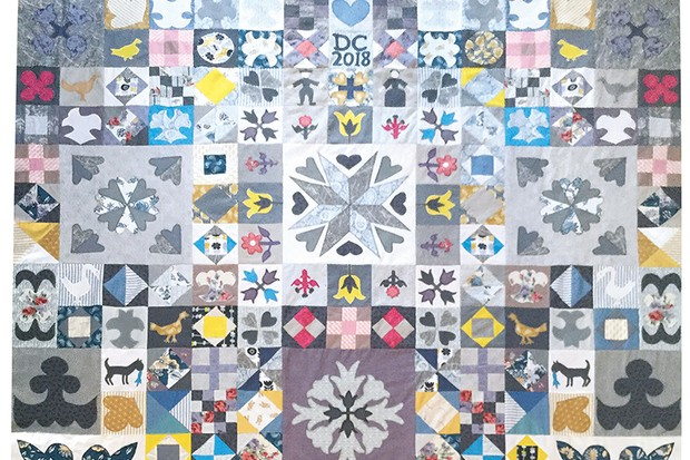 Silk Coverlet Reproduction Quilt Di-Collins