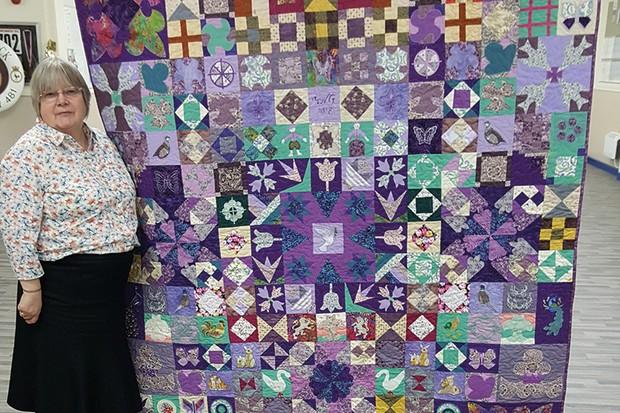 Silk Coverlet Reproduction Quilt Helen-Ginns