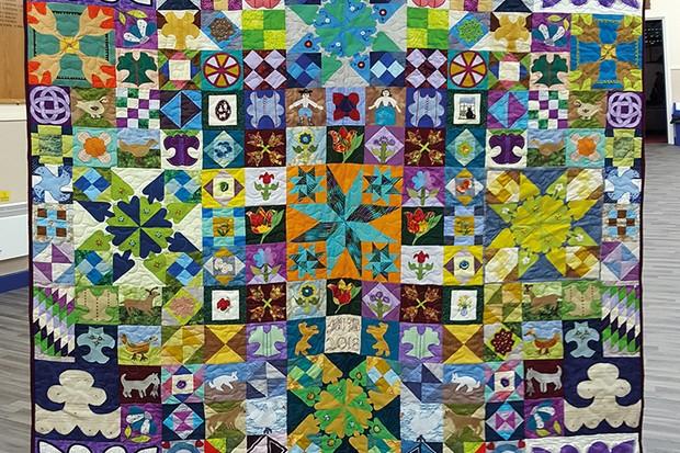 Silk Coverlet Reproduction Quilt Margaret-Buckley