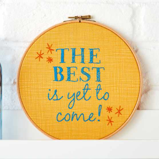 Beginners embroidery hoop