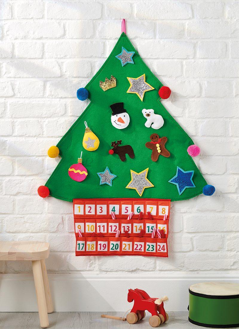 Easy-sew Christmas tree advent calendar
