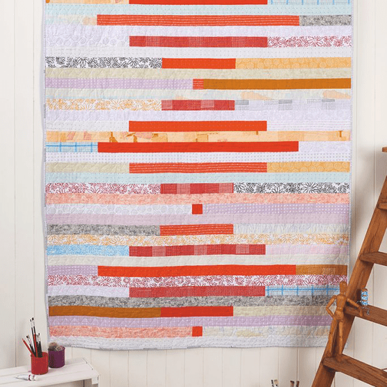 Easy stripe quilt pattern
