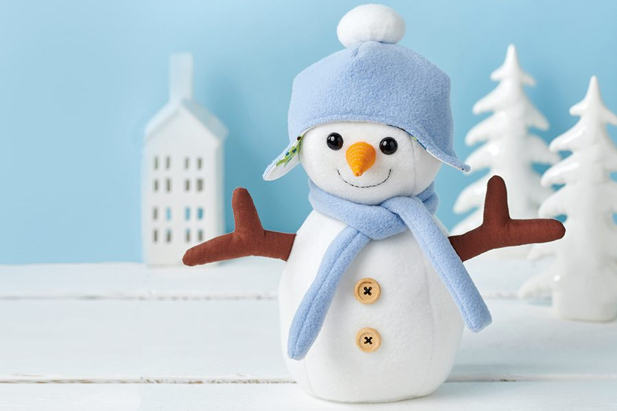 How to make a snowman softie toy