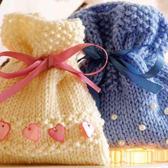 Free gift bags knitting pattern