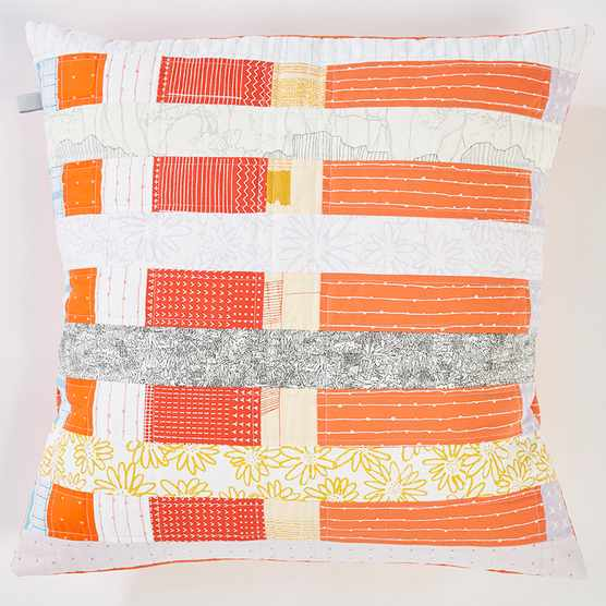How to make a stripy pathchwork cushion