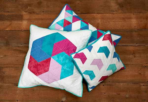 How to make a triangles patchwork cushion