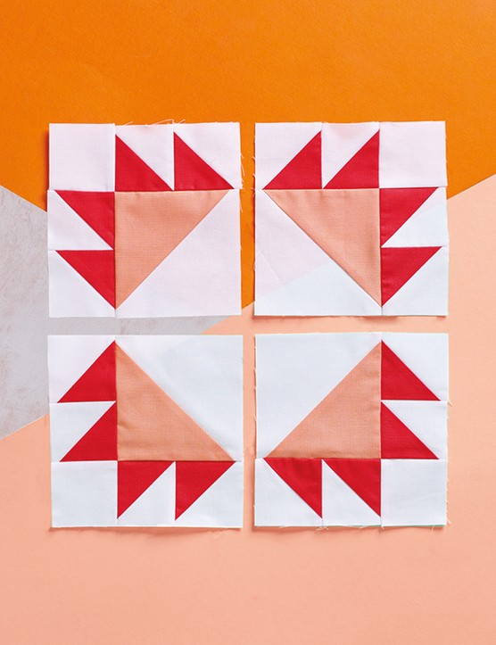Paws and pluses bear paw quilt blocks