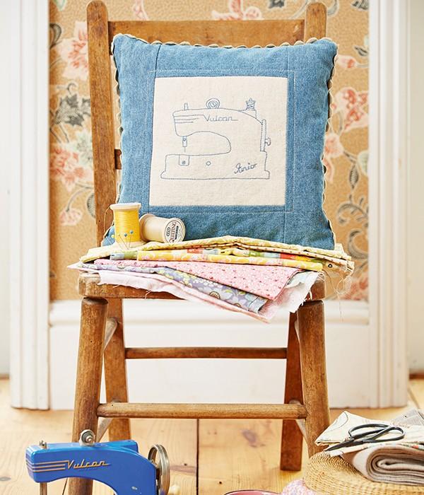 Sewing machine cushion