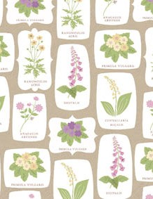 British wildflower patterned papers 01