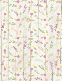 British wildflower patterned papers 05