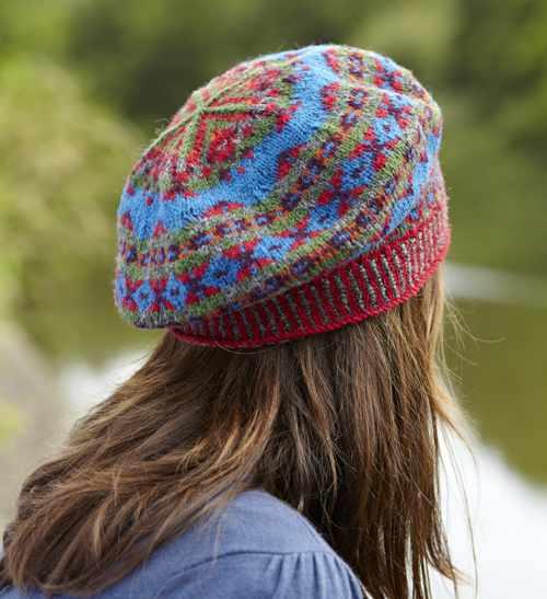 Fair isle hat knitting pattern design