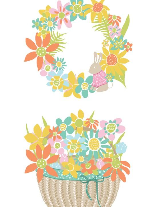 Free Easter egg basket printables 2