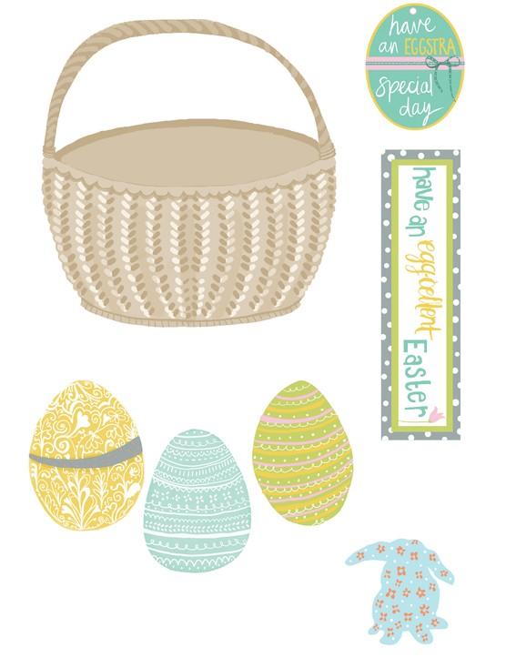 Free Easter egg basket printables 3