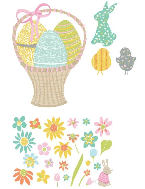 Free Easter egg basket printables 4