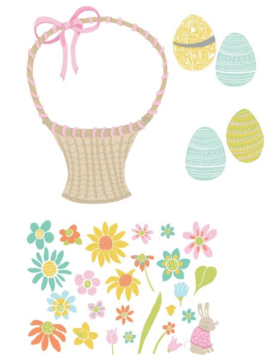 Free Easter egg basket printables 8