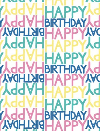 Free happy birthday brights patterned papers 06