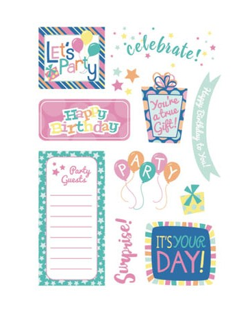 Free happy birthday brights patterned papers 08