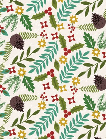 Free pinecone and poinsettia patterned papers 01