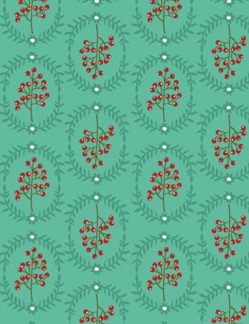 Free pinecone and poinsettia patterned papers 02
