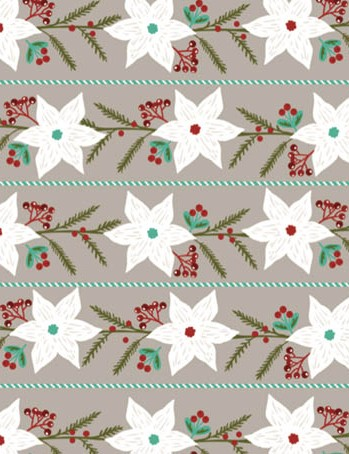 Free pinecone and poinsettia patterned papers 03