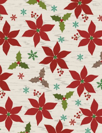 Free pinecone and poinsettia patterned papers 07