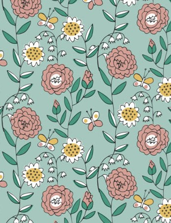 Free watering can floral patterned papers 01