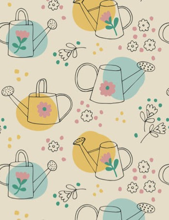 Free watering can floral patterned papers 04