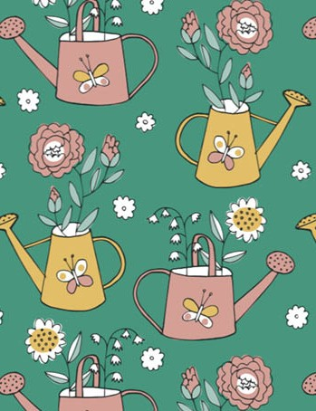Free watering can floral patterned papers 05