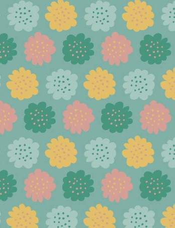 Free watering can floral patterned papers 06