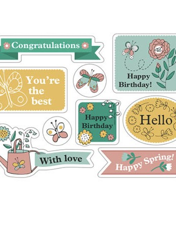 Free watering can floral patterned papers 08