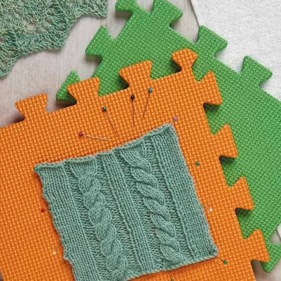 How to block knitting projects
