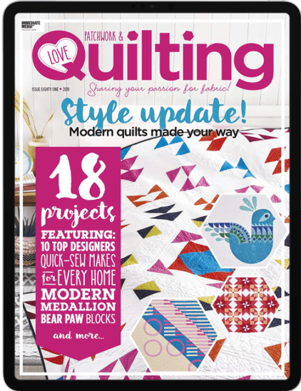 Love Patchwork and Quilting digital edition