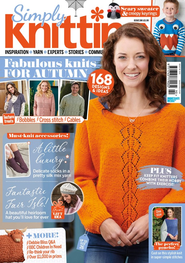 Simply Knitting 190 cover