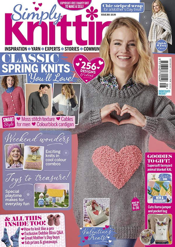 Simply Knitting 208 cover
