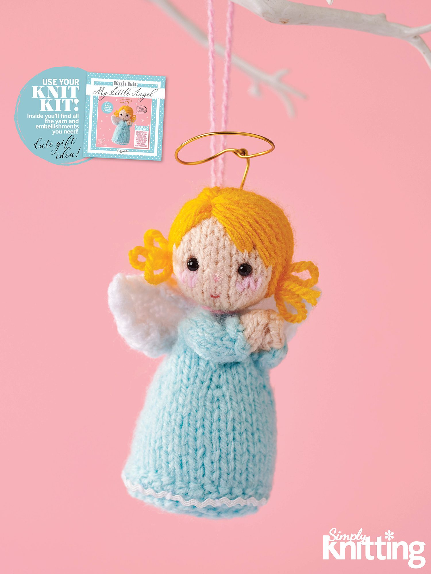 "Knitting by Post /""Angel/"" Soft toy knitting pattern"