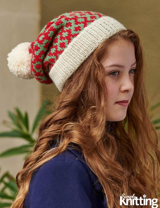 Simply Knitting 192 Fair Isle hat pattern