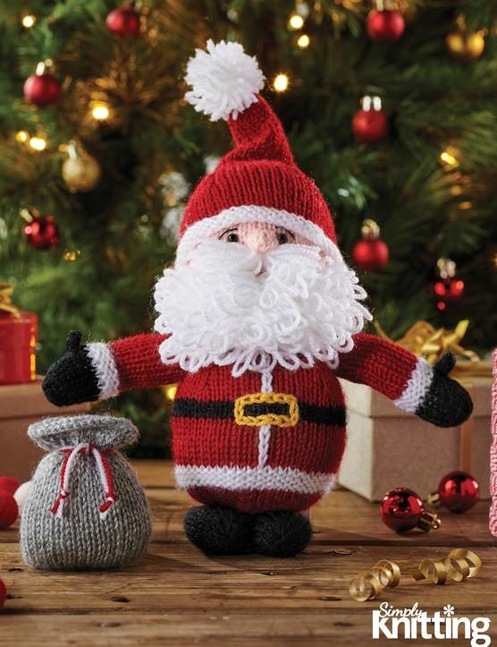 Simply Knitting 192 Santa toy pattern