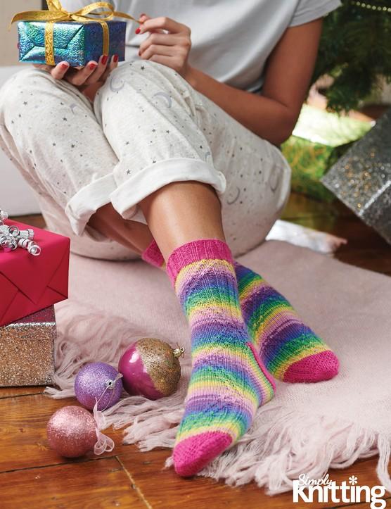 Simply Knitting 192 socks pattern