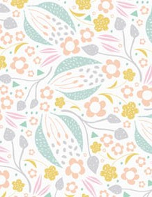 Spring pale pastel patterned papers 02